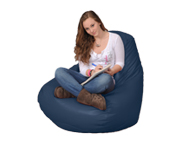 Large Bean Bag Chair in Barbados Blue