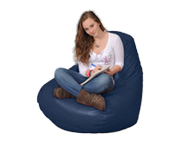 Large Beanbag Chair in Blueberry