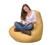 Large Yellow Bean Bag Chairs