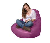 Large Bean Bag Chair in Purple