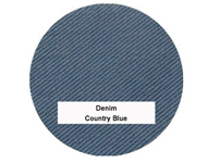 Denim large bean bag chair in Country Blue