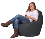 Large Bean Bag Chair in Gunmetal Grey