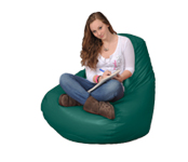 Large bean bag in Jade Green