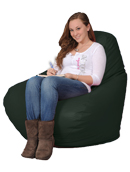 Large  bean bag chair in Hunter Green