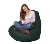Dark Green Beanbag Chair