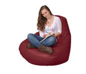 Large Bean Bag Chair in Maroon