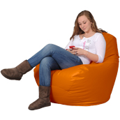Large Bean Bag Chair in Orange