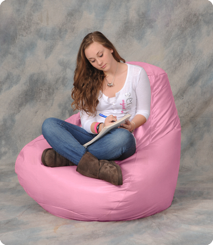 Rose Pink Large Bean Bag Chair
