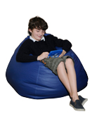 Large Bean Bag Chair in Blue