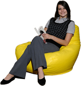 Yellow Large Bean Bag Chair