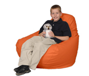 Large Orange Beanbag Chair for Kids