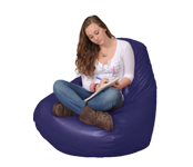 Dark Purple Beanbags