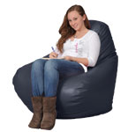 Passport Navy Bean Bag Chairs for Adults