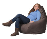 Simsuede Cocoa Bean Bag Chairs for Adults