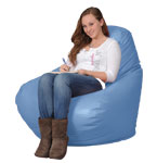 Sky Blue Bean Bag Chairs for Adults