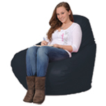 Dark  Blue Beanbag Chair in Navy