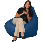 Baltic Blue Smooth Bean Bag Chairs for Adults