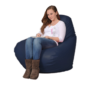 Giant Bean Bag Chair in Blueberry