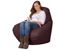 Giant Bean Bag Chair in Black Raspberry