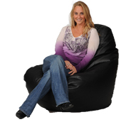 125 Big XL Adult Bean Bag in Black