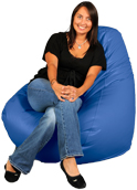 Big beanbag in Bright Royal Blue