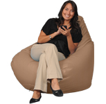 Tan Adult Bean Bags