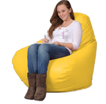 Bright Yellow Big Bean bags