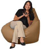 Big Adult Beanbag in Cashew