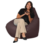 Chestnut Brown Big Beanbag Chair