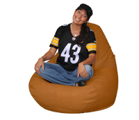 Large Beanbag Chair in Expresso