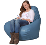 Big Beanbag Chair in Cornflower Blue