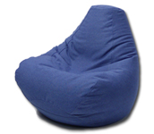 Bean Bag Chair in Denim Bluejean Blue