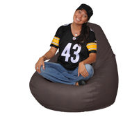 Quality Bean Bag in Dark Brown