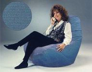 Giant Bean Bag Chairs in Denim Country Blue