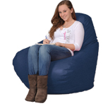 Adult Bean Bag Chairs in Navy Blue