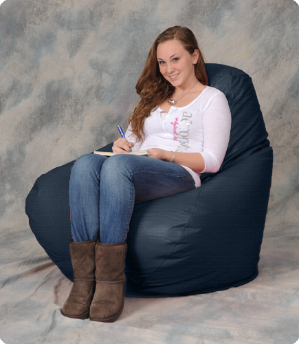 Dark Navy Bean Bag Chairs for Adults