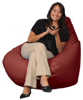 Big Bean Bags for Adults in Red