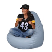 Ice Blue Adult Bean bag Chair