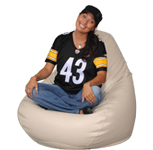 Big Beanbag Furniture in Ivory