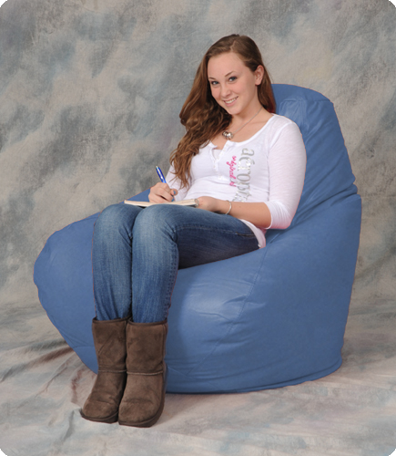 Giant Beanbag Chair in Lilac Blue