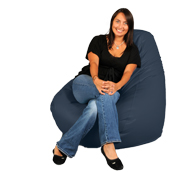 Big Bean Bag Chair in Marine Blue
