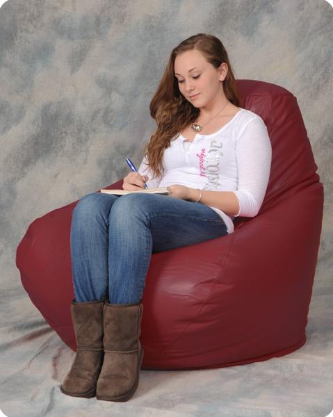 Big Bean Bag Chair In Maroon Bean Bag City