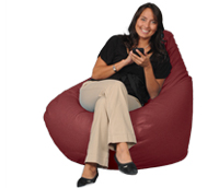Maroon Bean Bag for Adults