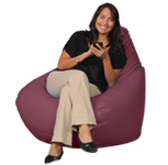 Deep Red Big Beanbag
