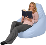 Big Powder Blue Beanbag Chair