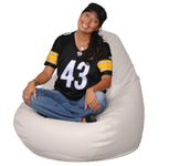 Big Beanbags in Putty
