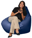 Big Beanbags in Royal Blue