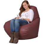 Big Beanbag Chair in Red Brick