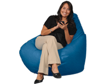 Bright Blue Beanbag