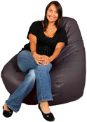 Soft Brown Adult Bean Bags